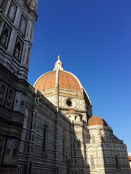 The famous DOME of the duomo built by the famous architect Brunelleschi. Truly a genius in his time. This is the biggest dome in all of Italy.