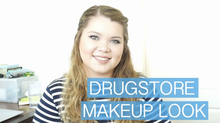 drugstore makeuplook
